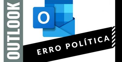 outlook erro política