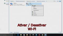 Como ativar/desativar o Wifi do seu computador no Windows 10