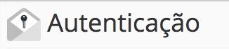 botão autenticação SPF