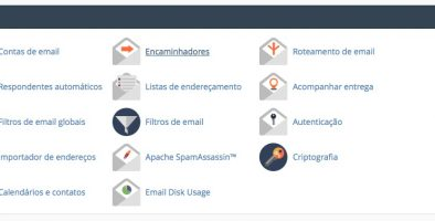 Botão SPF autenticação Sessão E-mail Painel de controle