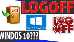 logoff windows 10