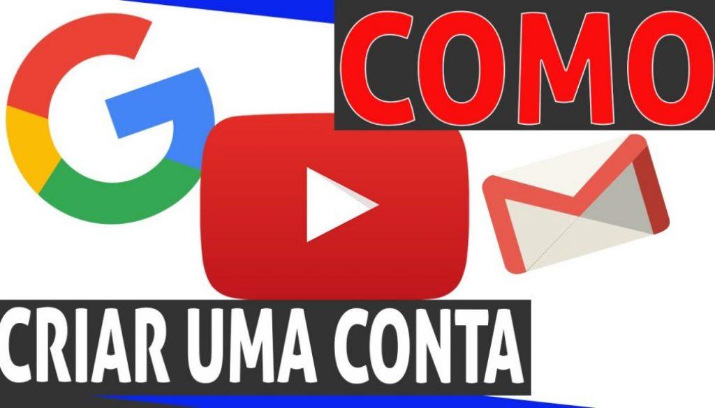 Como criar uma conta de youtube – gmail, o início #74