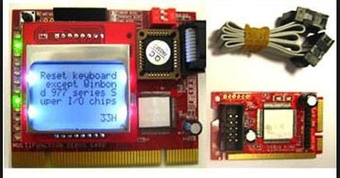 placa de teste hardware anos 90