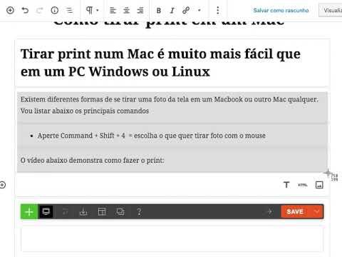 como tirar print em um mac?