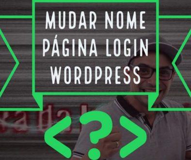 Como alterar a págian de Login do WordPress
