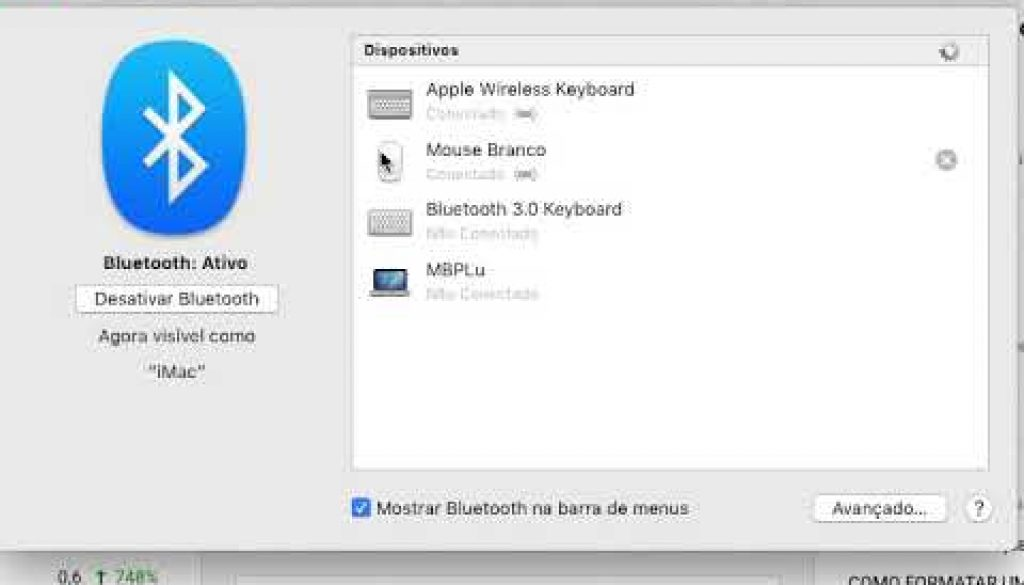como renomear o mouse bluettooth?