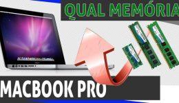 Qual memória usar no macbook pro