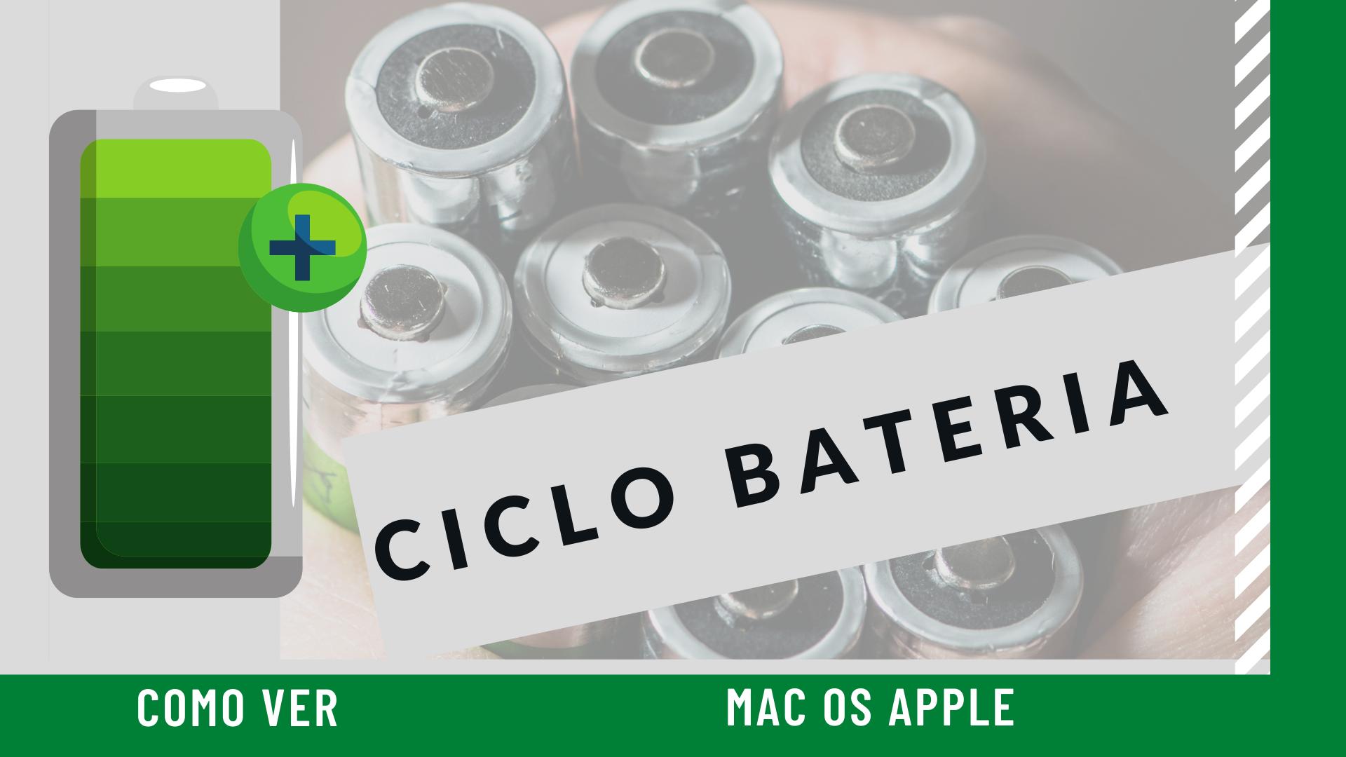 Como ver os ciclos da bateria do macbook no mac os